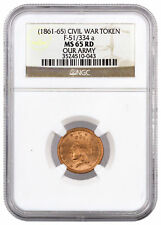 Civil War Token (1861-1865) F-51/334 a Our Army NGC MS65 RD SKU38949