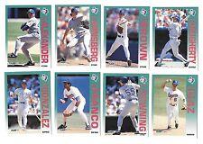 1992 FLEER MLB BASEBALL TEXAS RANGERS TEAM SET (31) FRANCO,GONZALEZ,RYAN,SIERRA