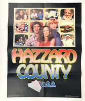 """Vintage Dukes Of Hazzard Poster, """"Hazzard County USA"""" 1981 Book Club Poster 80's"""