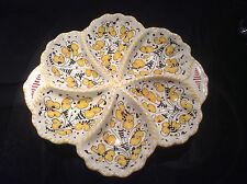 Deruta Majolica Italian Pottery-Antipastiera / Antipasto Platter -- Gallo Giallo