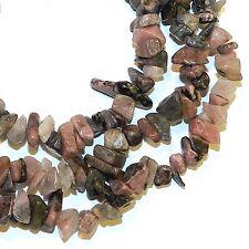 "NG710j Pink Rhodonite 6-8mm Medium Nugget Chip Gemstone Beads 16"""