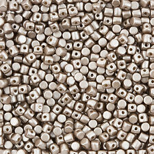 Minos® par Puca® Czech Glass Barrel Beads Opaque Light Brown Coco 9g (L103/1)