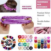 6-50 Pack Hair Scrunchies Velvet Scrunchy Bobbles Elastic Hair Bands Holder Lot