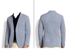 Polo NEW Blue Mens Size 40 Three Button Seersucker Blazer