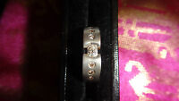 18ct White & Yellow Gold Cuff Ring Size L1/2