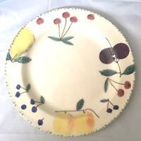 "VTG Hartstone USA Fruit Salad Dinner Plate 11 1/4""  Country Farmhouse Kitchen"