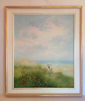 Atrist S. Brouln? S. Brouiln ? Original Oil Painting  Seascape Ocean Landscape