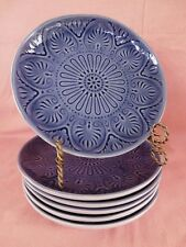 Mikasa Bellina Blue SALAD PLATE 1 of 6 available Embossed