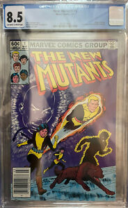 New Mutants #1 CGC 8.5~Off-White To White Pgs~Newsstand Edition~Freshly Graded