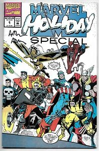 Marvel Holiday Special 1 Signed Art Adams Autographed Spider-Man Captain America