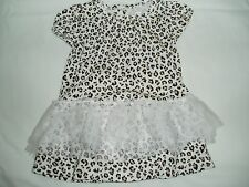 New CHILDREN'S PLACE Infant Baby Girl Leopard Print Tutu Dress 0-3 Mth FREE S/H!