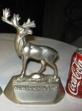 # 1 Antique Cast Iron Newfoundland Elk Antler Gun Hunting Statue Door Doorstop