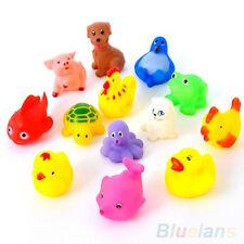 13Pcs Cute Soft Rubber Float Sqeeze Sound Baby Wash Bath Play Animals Toys