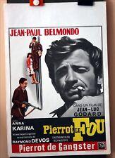 JL Godard : JP Belmondo : Pierrot Le Fou : POSTER