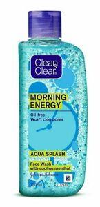 Clean & Clear Morning Energy Aqua Splash, Blue for Oil free face 150ml