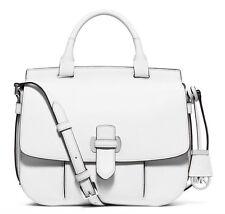 NWT ~ Michael Kors Leather Romy Large Messenger Crossbody Bag -Optic White $378