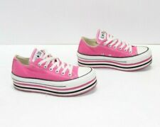 Converse All Star PLATFORM Fucsia Basse EUR 37.5 UK 5 usate (Cod.DPS1128) Donna