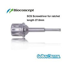 Straumann Compatible Implant SCS Screwdriver for ratchet, long, length 27.0mm