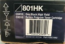 New Genuine LEXMARK 801HK One Black High Yield Cartridge CX410 CX510 # 80C1HK0