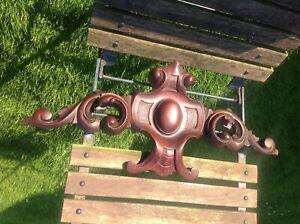 Antique French Mahogany Armoire ornate pelmet Hand carved furniture mount 600 mm