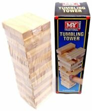 TRADITIONAL WOODEN STACKING TUMBLING TOWER GAME LIKE JENGA KID FAMILY BOARD MINI