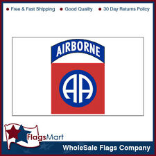 3x5 ft 82nd Airborne white Flag #F1312