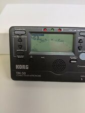 Korg Tm-50 Combo Tuner Metronome - Tested Works