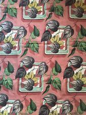 Vintage Tropical Plant Foliage Floral 1940s Bark Cloth Panels Design Stockdale