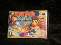 Diddy Kong Racing (Nintendo 64, 1997) Box and Game N64 No Manual NICE Authentic