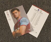 West Ham v Aston Villa PREMIER LEAGUE Matchday Programme 30/11/20 READY TO POST!