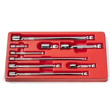 "9PC Wobble Socket Extension Bar Hand Tool Set Kit Box 1/4"" 3/8"" 1/2"" Drive"