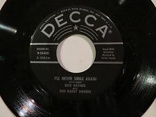 DICK HAYMES WITH KEN DARBY SINGERS LITTLE WHITE LIES DECCA #24480 NM 45 RPM