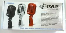 PDMICR42R  PYLE Classic Retro Vintage Style Dynamic Vocal Microphone (Red)