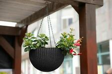 Brand New Keter 221486 Hanging Planter Set, Color Brown (Two Planters)