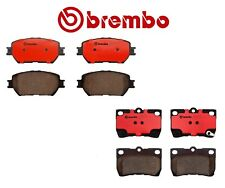 NEW For Lexus GS300 IS250 Set of Front & Rear Disc Brake Pads Ceramic Kit Brembo