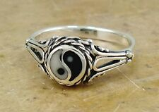PRETTY .925 STERLING SILVER FILIGREE YIN YANG RING size 7  style# r1975