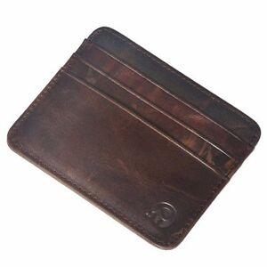Flaches Scheckkartenetui Brieftasche Kreditkartenetui aus echtem Rindsleder