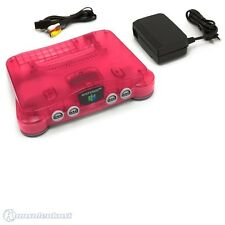N64 Konsole #Watermelon Red (inkl. TV-Kabel & Netzteil) (ohne Controller)