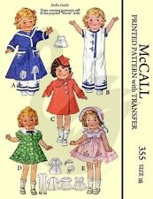 Reproduction vintage shirley temple doll vêtements couture motif Mccalls 355