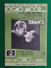 (AB106) SPARTITO MUSICALE 26x17 cm (1935) SOGNO ANCOR TORMENTO Brown Bracchi