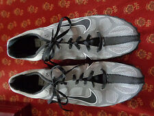 Nike Black & Grey Waffle Track Shoes w/Metal Spikes Lace Up Hardly Worn 8M