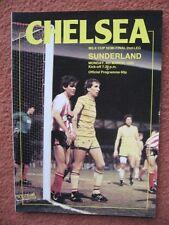 CHELSEA v SUNDERLAND 4th March 1985 FOOTBALL LEAGUE CUP SEMI FINAL: