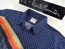 """PAUL SMITH Mens Shirt 🌍 Size M (CHEST 40"""") 🌎 RRP £95+📮 POLKA DOT & CONTRASTS"""