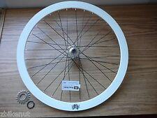 700c Rear Wheel Glow In Dark White Single Speed Velocity Deep V Flip Flop w/cog