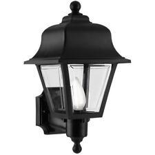 Newport Crest Liberty Black Two Decorative Finials Outdoor Wall-Mount Lantern