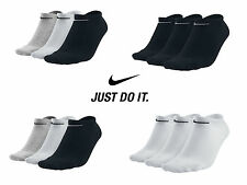 3 Pairs x Nike Cotton Rich NoShow Ankle Liners Trainer Gym Sport Socks Size 2-14