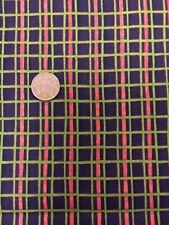Benartex Susan Winget Brown Green Check 100% Cotton Fabric Patchwork Quilting