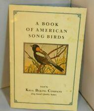 A Book of American Song Birds Krug Baking Company Jamaica Long Island 1929