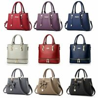 Women Leather Handbag Messenger Shoulder Bag Lady Tote Purse Crossbody Satchel