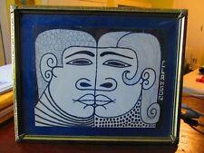 "REX CLAWSON (1929-2007) FOLK ART drawing  8x6"" man and woman early work"